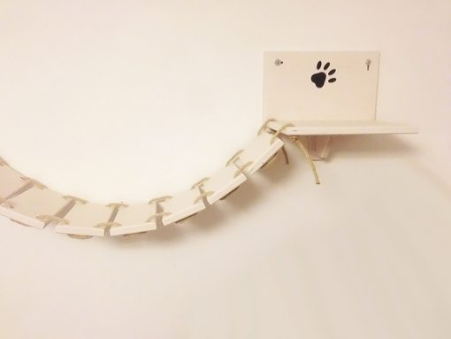 Cat bridge with carved paws