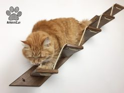 Wooden cat ladder