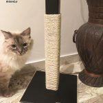 Wooden cat scratching post