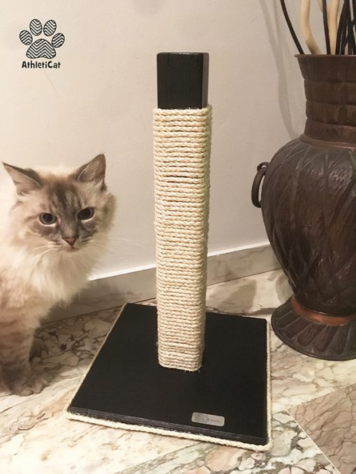 Wooden cat scratching post