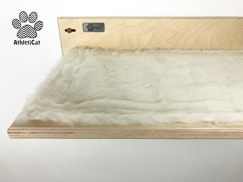 Wooden cat shelf