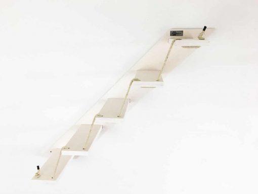 white cat stair
