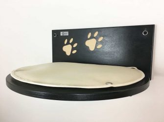 Cat shelf with carved paws