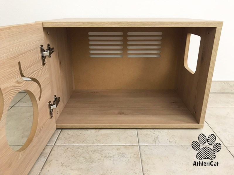 Cat litter box cabinet - Made in Italy - AthletiCat