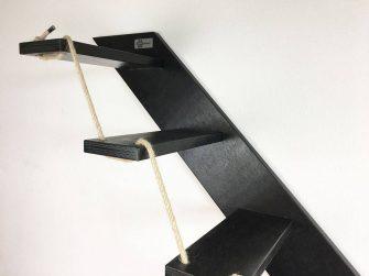black cat stair