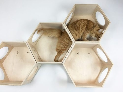 hexagon cat house furniture
